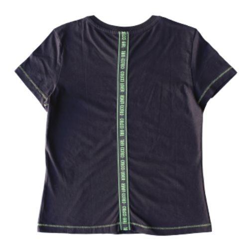 Camiseta Infantil Feminina Preta Colcci Lover