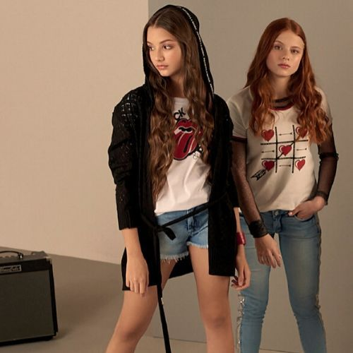Camiseta Infantil Feminina Rock Pop