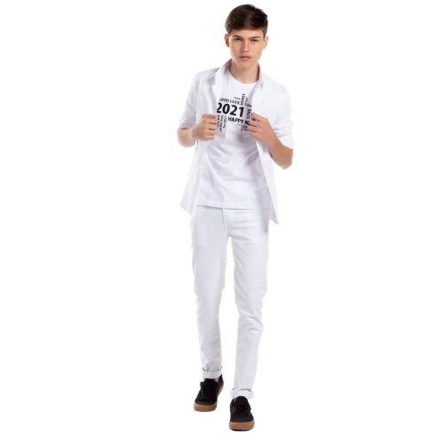 Camiseta Masculina Infantil Branca 2021