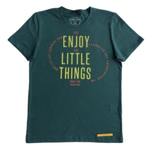 Camiseta Masculina Verde Enjoy the Little Things