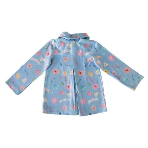 Casaco Infantil Feminino Azul Floral Mon Sucré