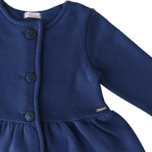 Casaco Moletom Infantil Feminino Azul Marinho Mon Sucré