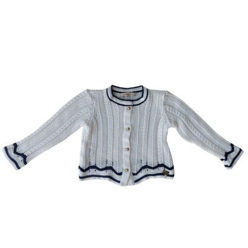 Casaco Tricô Infantil Feminino Off White 1+1