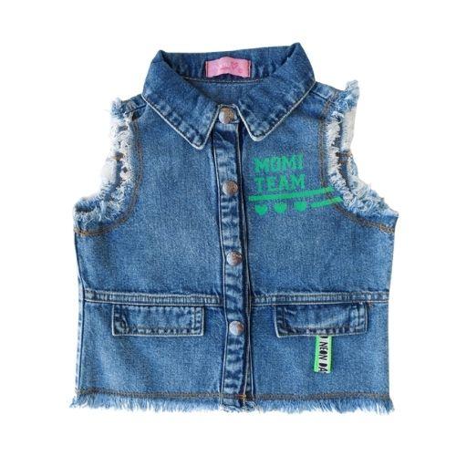 Colete Infantil Feminino Jeans Momi