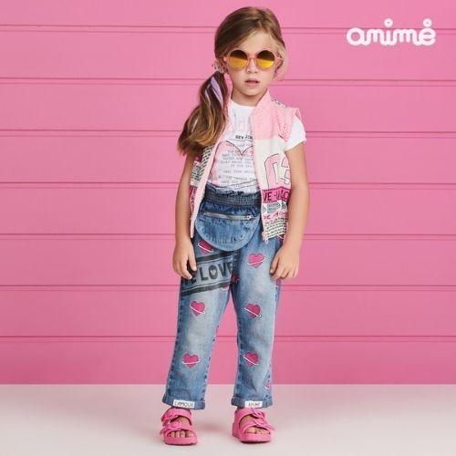 Colete Infantil Feminino Rosa com Telinha Animê