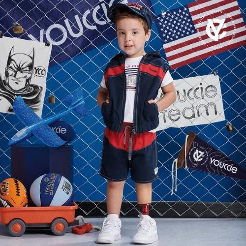 Colete Infantil Masculino Tactel com Capuz