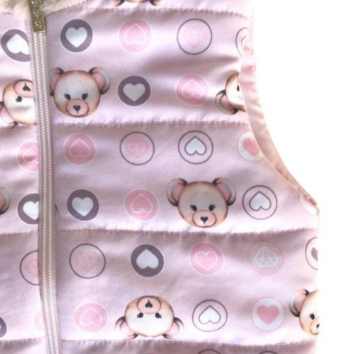 Colete Infantil Feminino Rosa Ursinhos