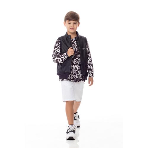 Colete Infantil Masculino Nylon Preto
