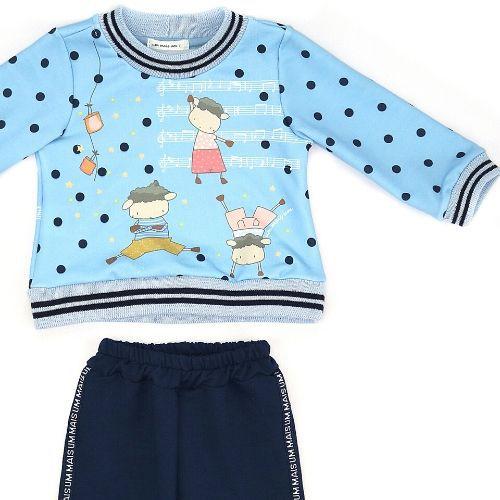 Conjunto Feminino Infantil Blusa Ovelhinhas com Calça