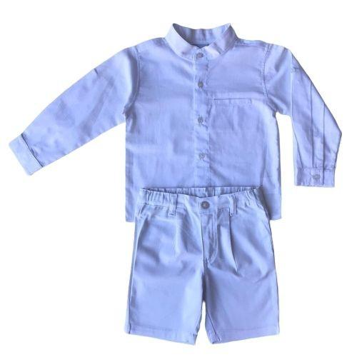 Conjunto Masculino Bebê Bata e Bermuda Social