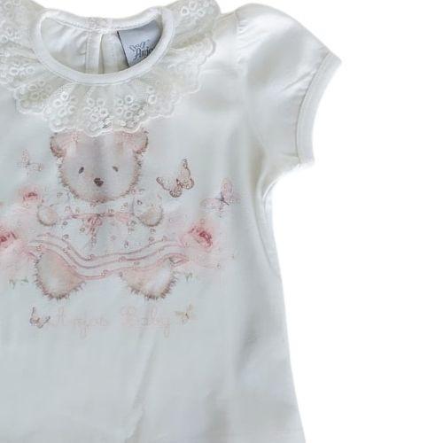Conjunto Bebê Blusa Ursinha com Shorts Pompom