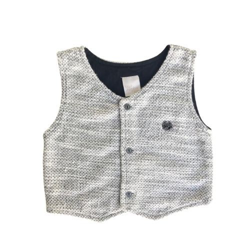 Conjunto Masculino Bebê Body Camisa com Colete e Calça