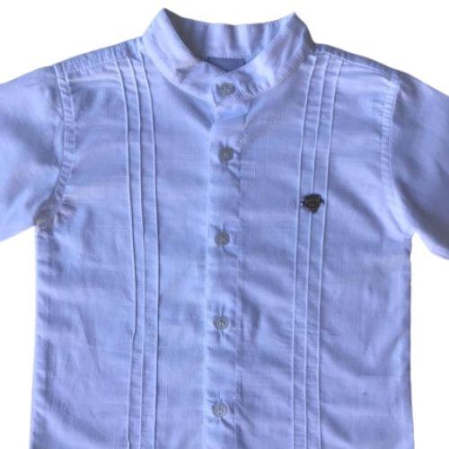 Conjunto Masculino Bebê Branco Bata e Calça
