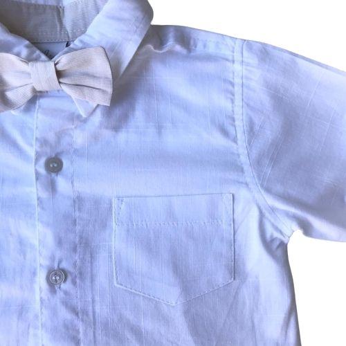 Conjunto Masculina Infantil Camisa com Calça e Suspensório