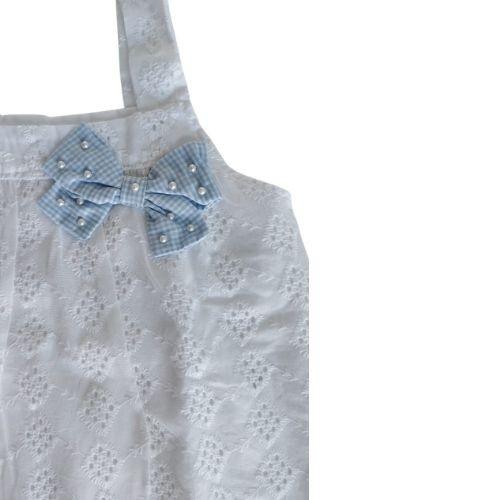 Conjunto Bebê Feminino Blusa Branca e Tapa Fralda
