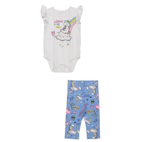 Conjunto Bebê Feminino Body e Legging Unicórnios Momi