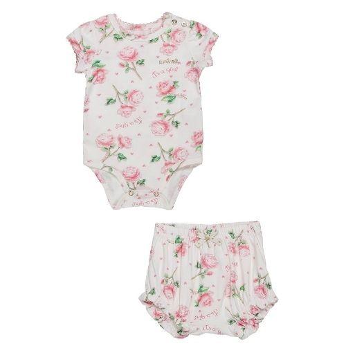 Conjunto Bebê Feminino Body e Shorts Floral
