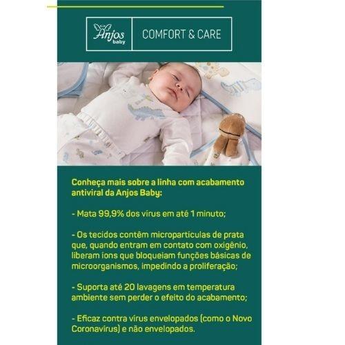 Conjunto Bebê Feminino Body Elefantinhas com Mijão e Proteção Antiviral