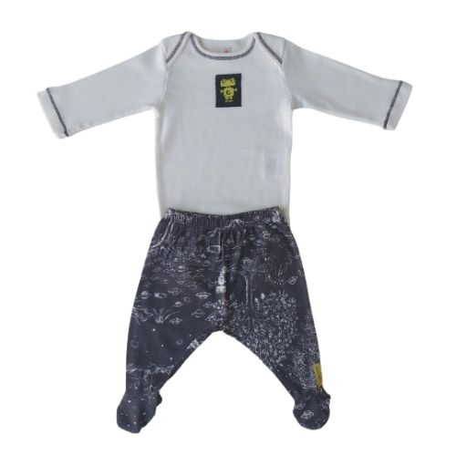Conjunto Bebê Masculino Body e Mijão Galáxia