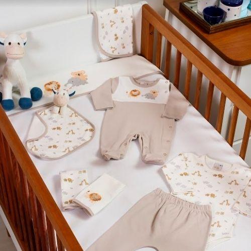 Conjunto Bebê Masculino Body Safari com Mijão e Proteção Antiviral