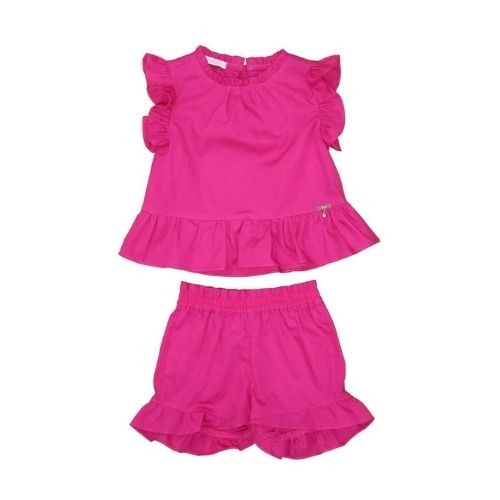 Conjunto Feminino Infantil Bata e Shorts de Babados