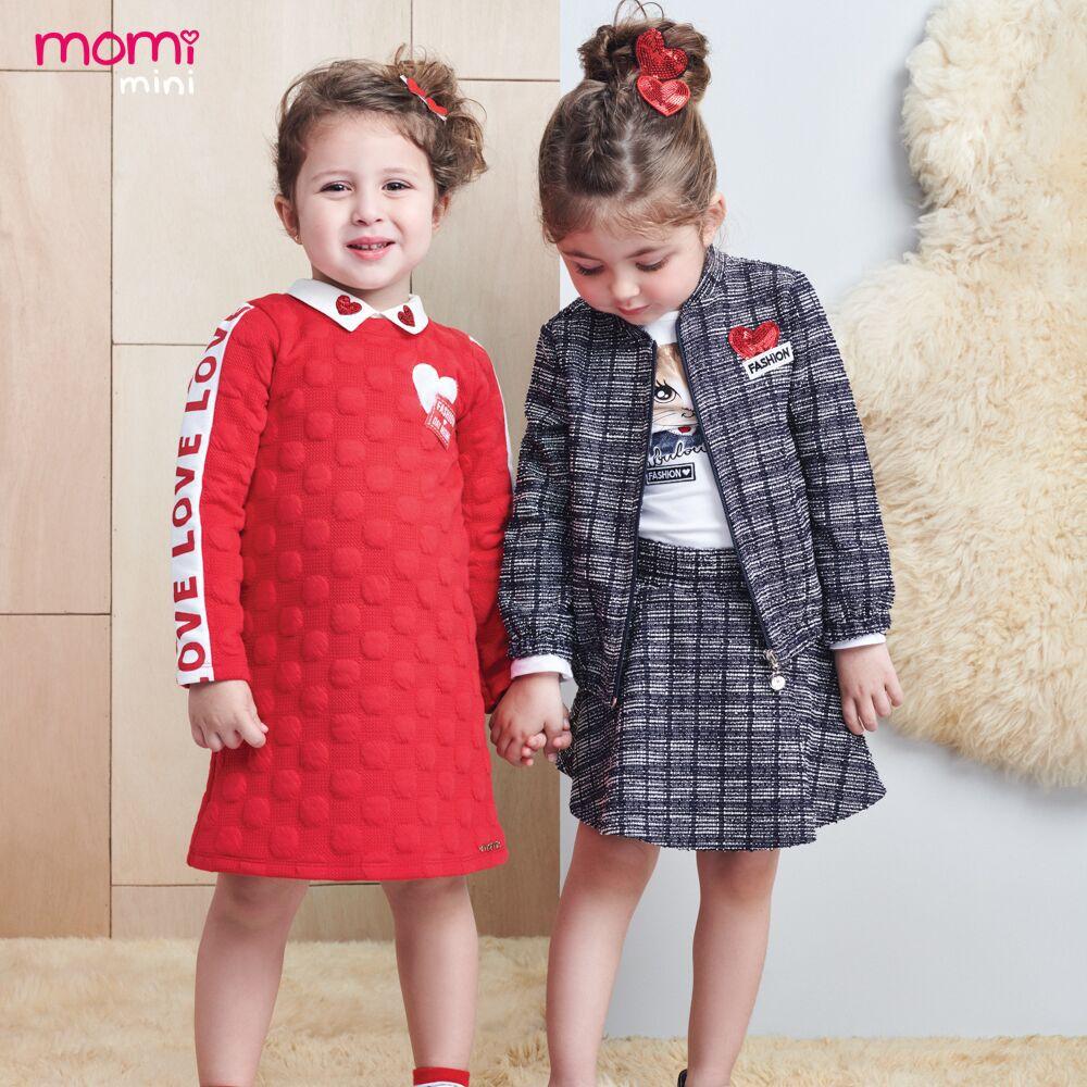 Conjunto Feminino Infantil Blusa Gatinha com Saia Xadrez Azul