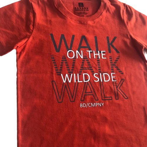 Conjunto Masculino Infantil Camiseta Laranja com Bermuda Camuflada