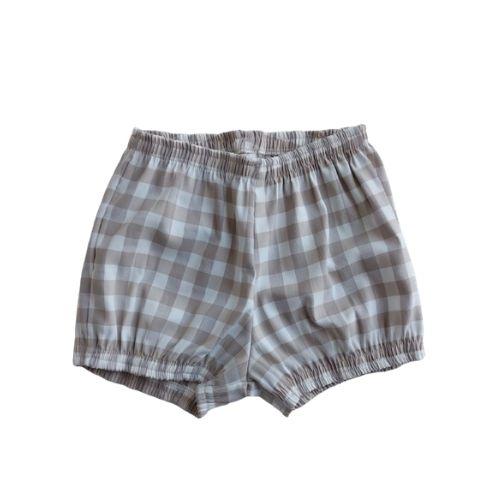 Conjunto Infantil Feminino Bata e Shorts Xadrez