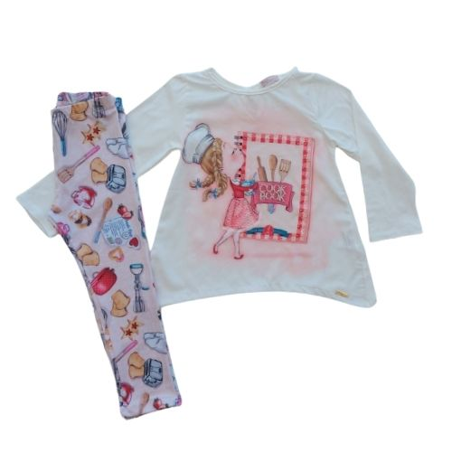 Conjunto Infantil Feminino Blusa e Legging
