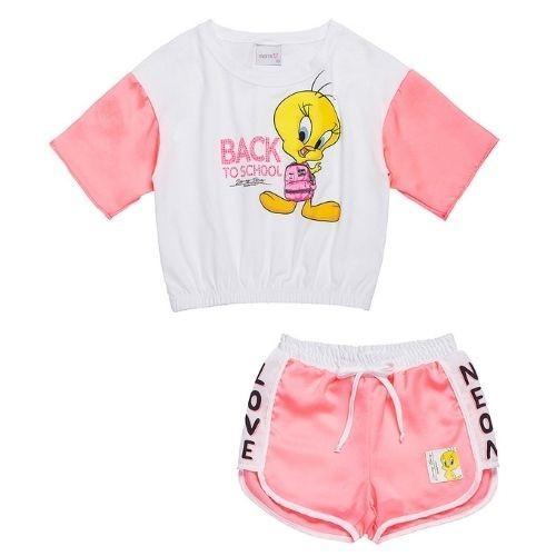 Conjunto Infantil Feminino Blusa e Shorts Piu Piu