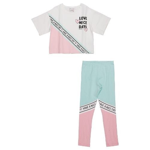 Conjunto Infantil Feminino Cropped e Legging