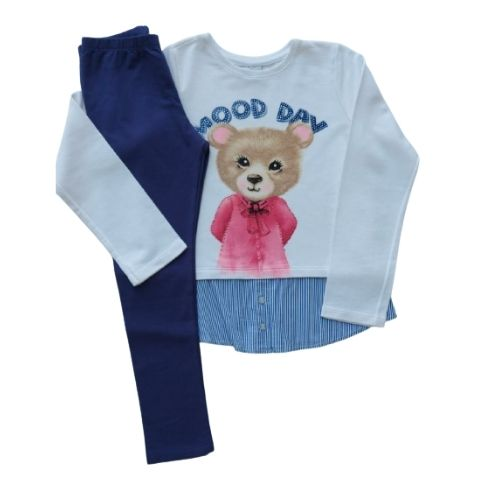 Conjunto Infantil Feminino Moletom Camisa com Legging