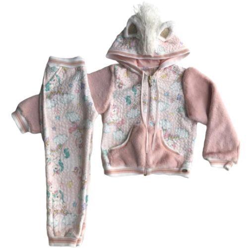 Conjunto Feminino Infantil Jaqueta e Calça Unicórnios
