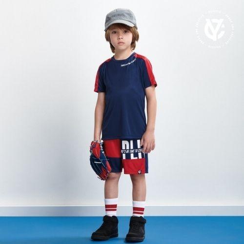 Conjunto Infantil Masculino Camiseta e Short Azul Marinho
