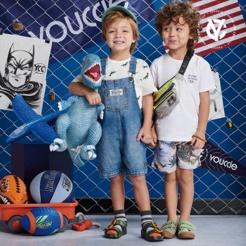 Conjunto Infantil Masculino Camiseta e Short Estampado