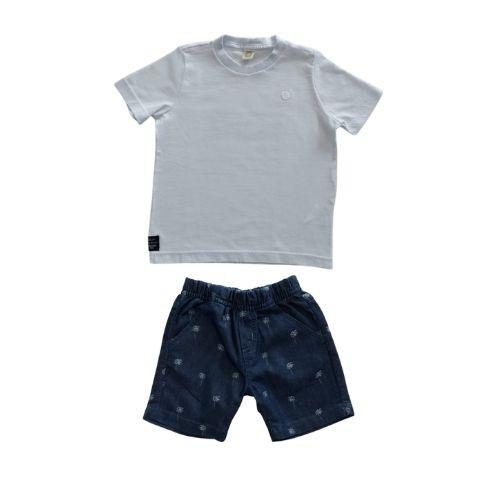 Conjunto Infantil Masculino Camiseta e Short Jeans