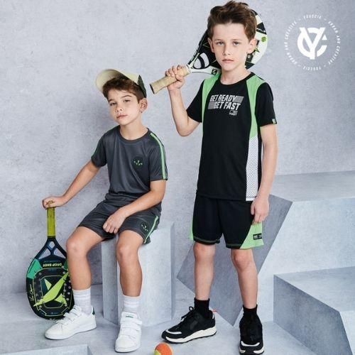 Conjunto Infantil Masculino Camiseta e Short Preto Youccie