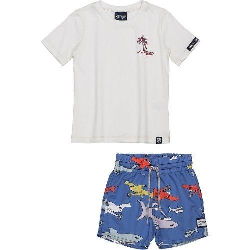 Conjunto Infantil Masculino Camiseta e Short Tactel