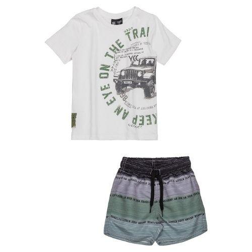 Conjunto Infantil Masculino Camiseta e Shorts Estampado