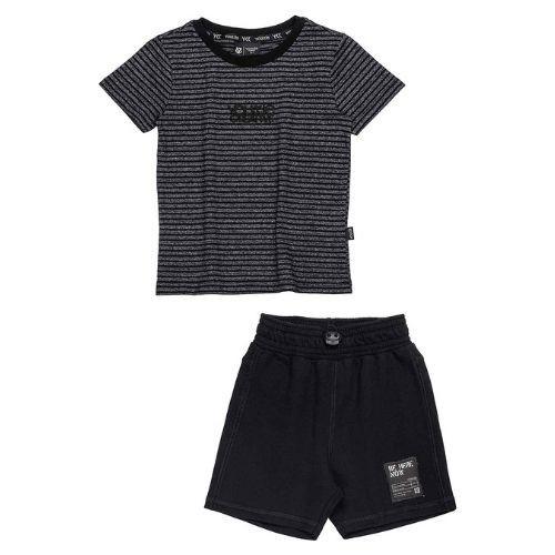 Conjunto Infantil Masculino Camiseta Preta e Short Preto Youccie