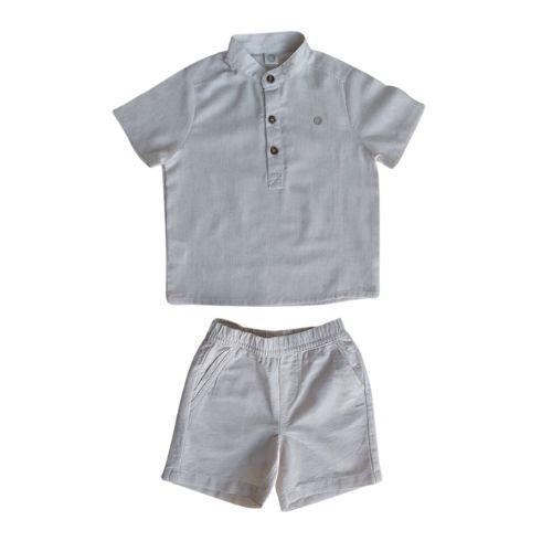 Conjunto Masculino Infantil Bata e Bermuda