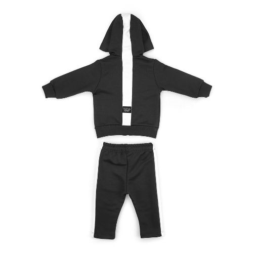 Conjunto Masculino Moletom Infantil Jaqueta com Capuz e Calça 1+1