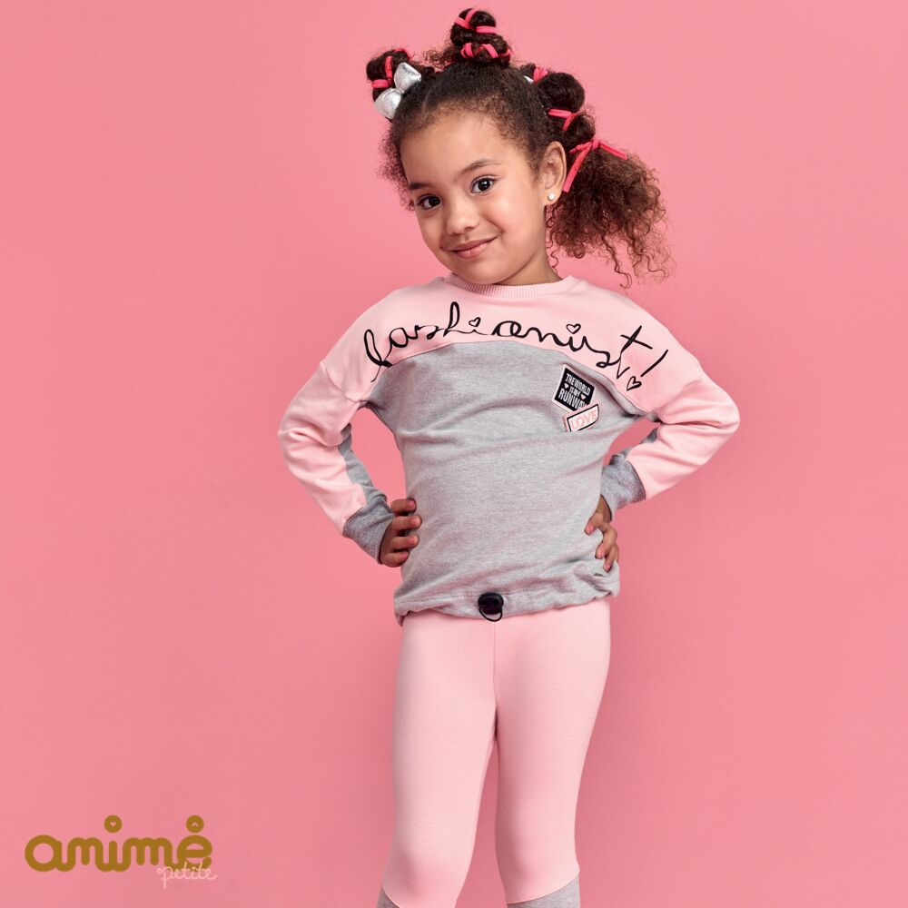 Conjunto Feminino Moletom Infantil Blusa e Legging Fashionist