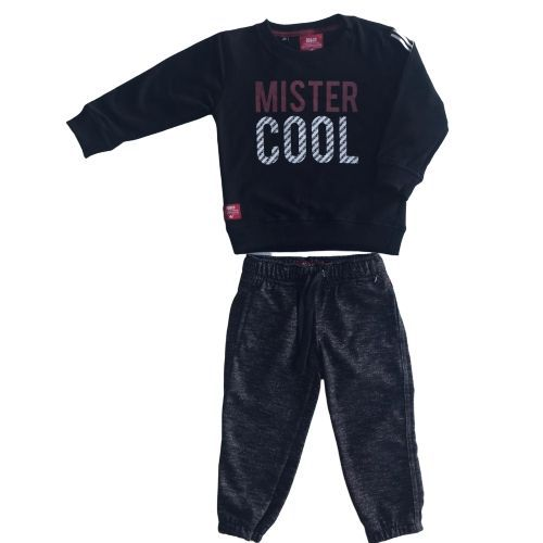 Conjunto Masculino Moletom Infantil Blusa Mister Cool com Calça