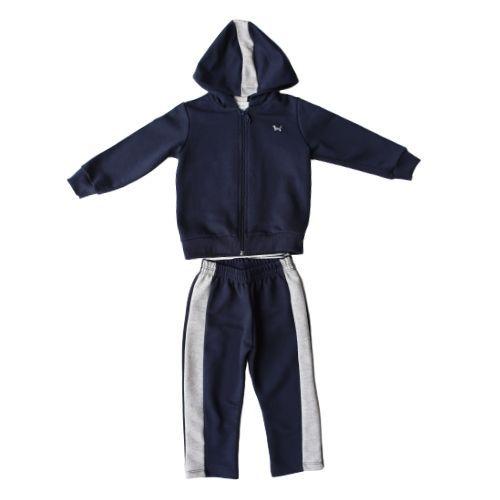Conjunto Masculino Moletom Infantil Jaqueta com Capuz e Calça