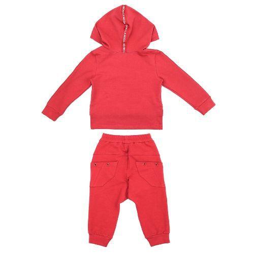 Conjunto Infantil Feminino Vermelho Blusa Adoro Capuz