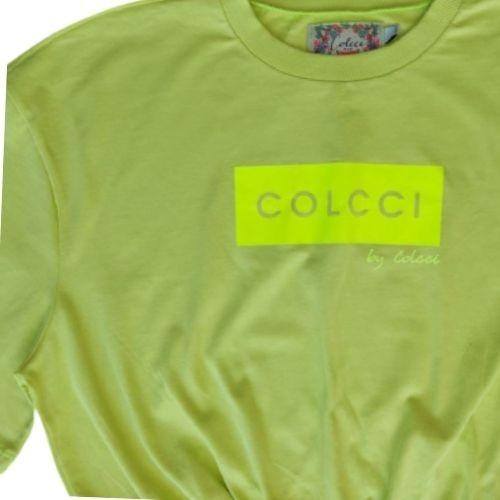 Cropped Infantil Feminino com Logomarca Neon