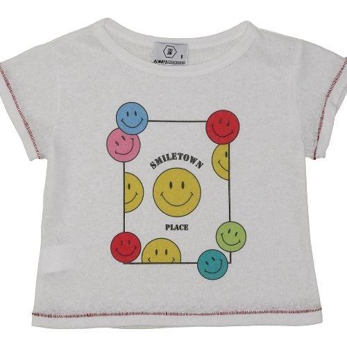 Cropped Infantil Feminino Emojis Coloridos