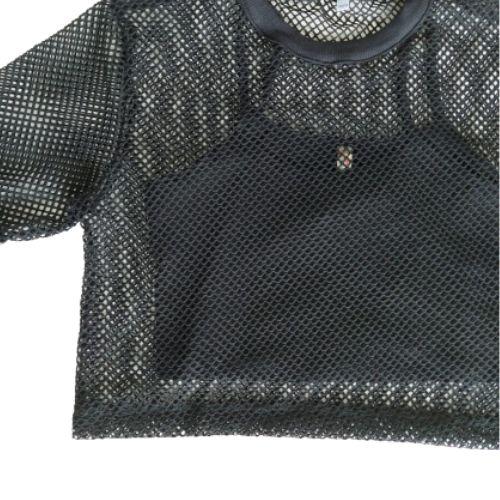 Cropped Infantil Feminino Preto Telinha