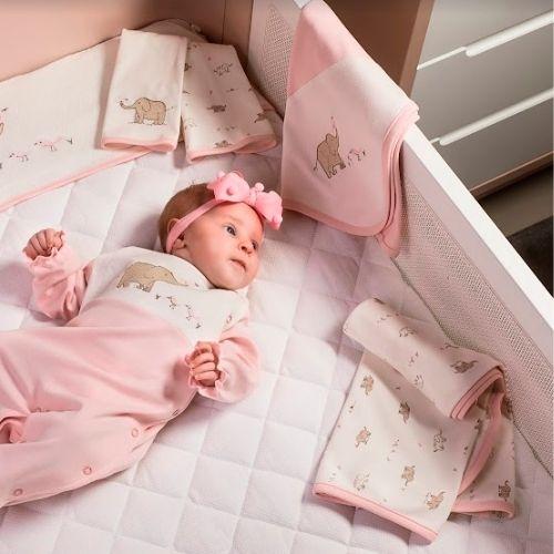 Cueiro Bebê Feminino Elefantinha com Proteção Antiviral